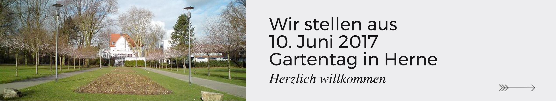 Wir stellen aus am 10. Juni 2017 auf dem Gartentag in Herne